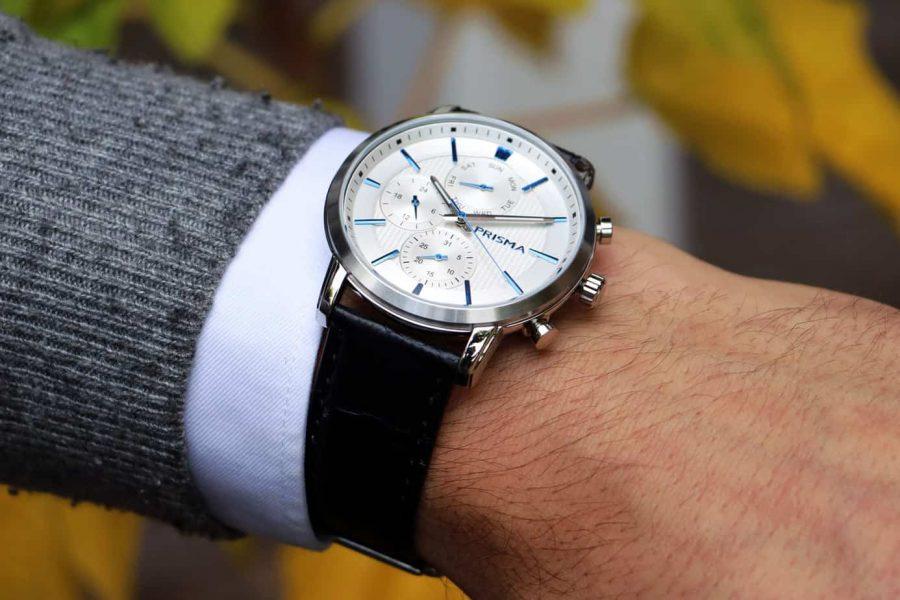 Prisma 1580 horloge Refined white P.1580 men watches Traveller Refined White watch herenhorloge