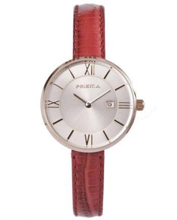 Prisma-P1536-dames-horloge-edelstaal-rosegoud-rood-leder-l