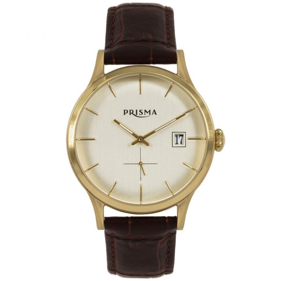 PRISMA-P2785-HORLOGES-HEREN-LEER-BRUIN-GOUDKLEURIG-62300