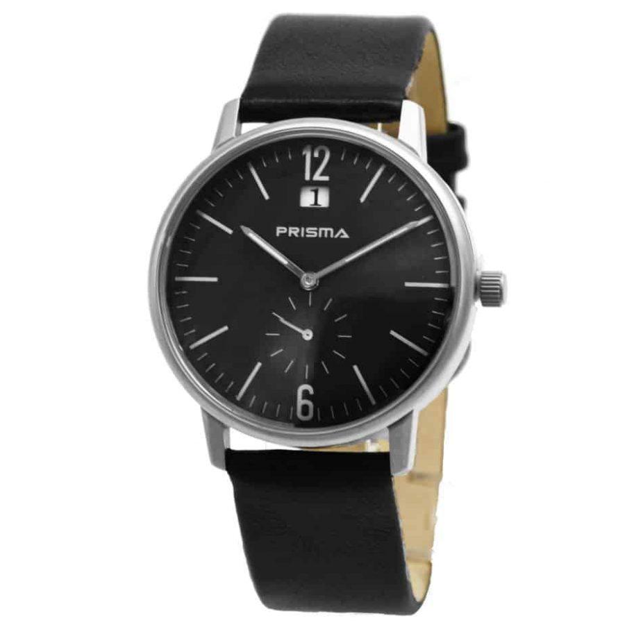 Prisma-P1221-horloge-heren-leer-staal-zwart-611007-l