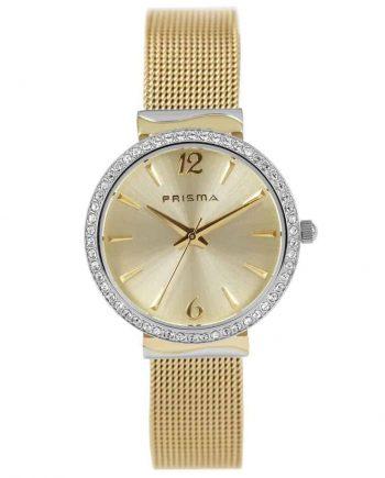 Prisma-P1568-horloges-dames-goud-edelstaal-strass-mesh-l