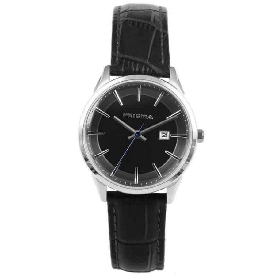 Prisma-P1570-dames-horloges-edelstaal-grijs-lederen-band-l