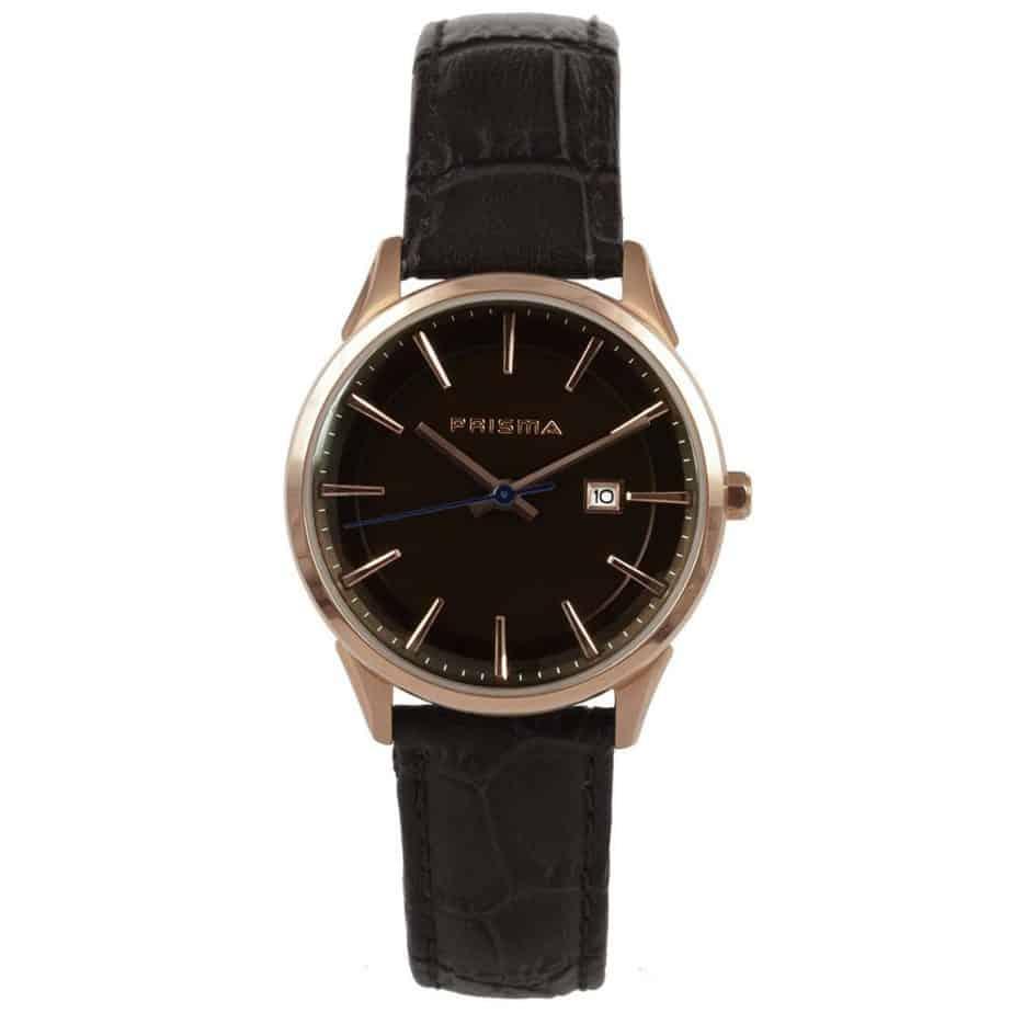 Prisma-P1572-dames-horloges-rosegoud-edelstaal-leer-bruin-l