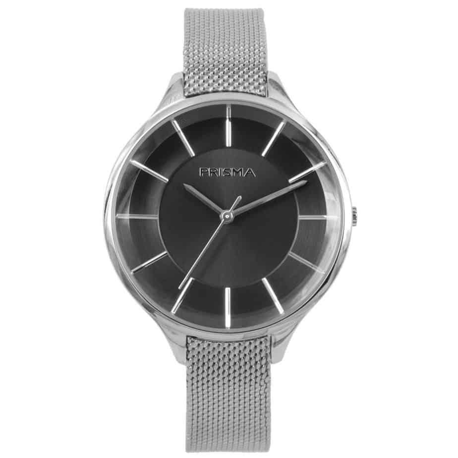 Prisma-P1578-dames-horloges-edelstaal-milanees-zwart-l
