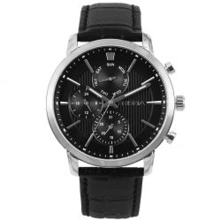 Prisma 1579 P.1579 heren horloge edelstaal zwart horloge sportief black sportive watch