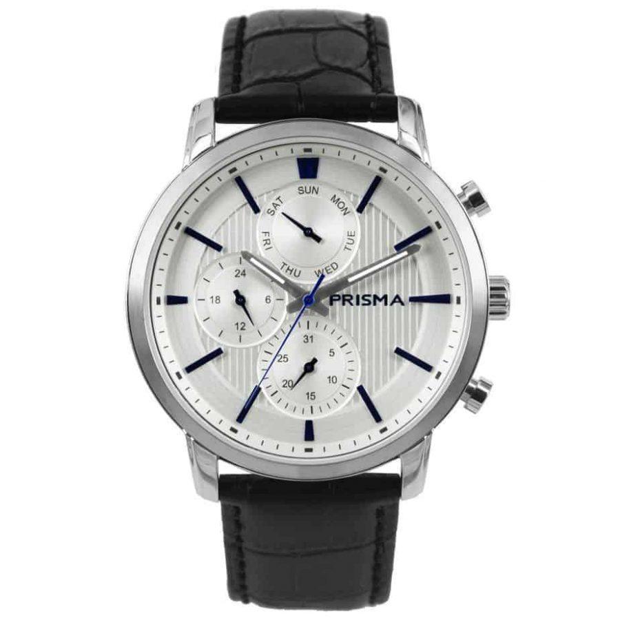Prisma 1580 P.1580 Refined Wit heren horloge edelstaal