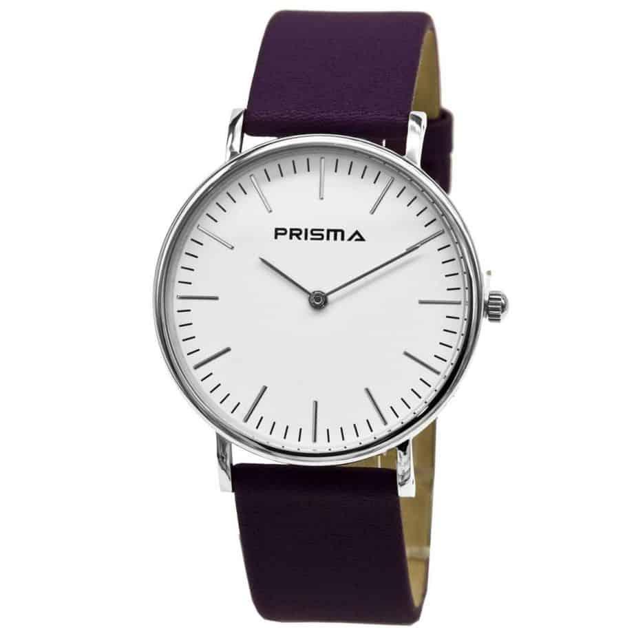Prisma-P1623-800G-horloges-edelstaal-paars-leder-l