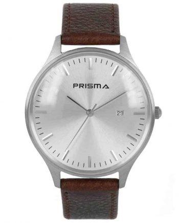 Prisma-P1626-400F-heren-horloge-dome-bruin-2