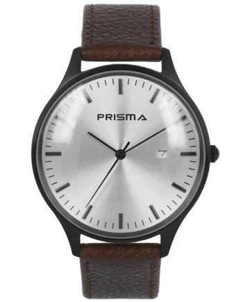 Prisma-P1627-400F-heren-horloge-dome-bruin-l
