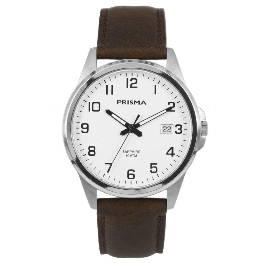 Prisma-P1723-444G-heren-horloge-titanium-saffierglas-leder