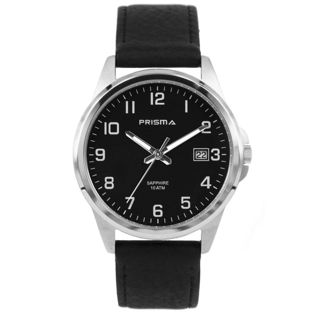 Prisma-P1724-129G-heren-horloge-titanium-saffierglas-leder