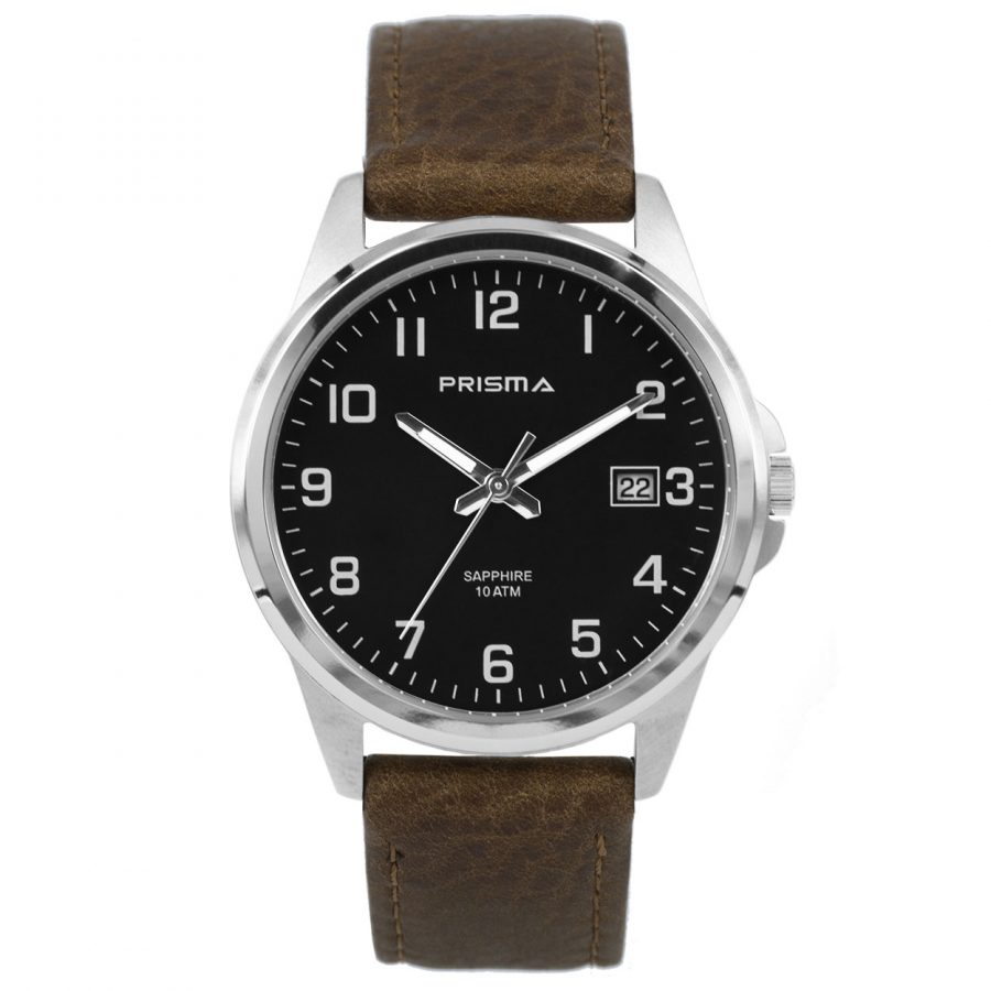 Prisma-P1724-329G-heren-horloge-titanium-saffierglas-leder