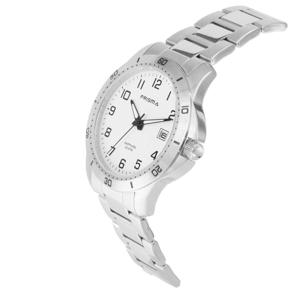Prisma-P1735-horloges-heren-edelstaal-saffier-wit-datum-schuin