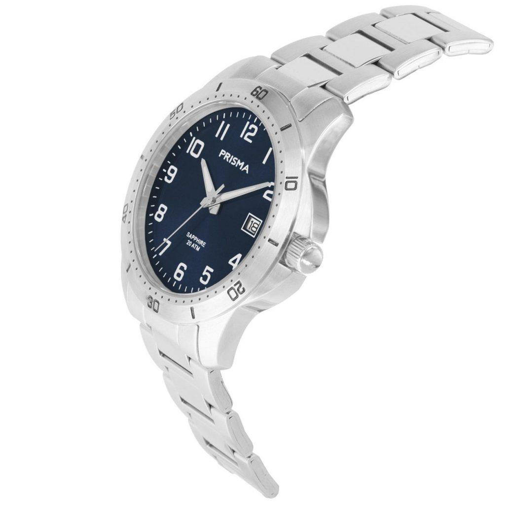 Prisma-P1736-horloges-heren-edelstaal-saffier-blauw-datum-schuin
