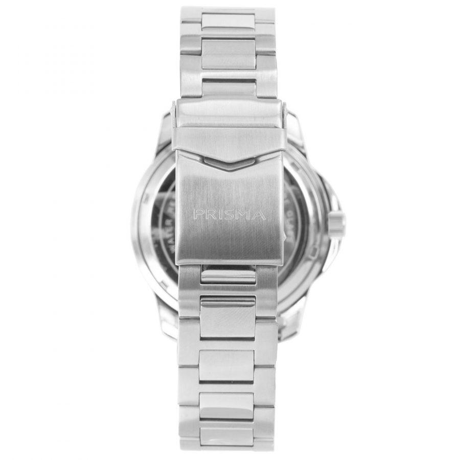 Prisma-P1737-horloges-heren-edelstaal-saffier-zwart-datum-achtekant