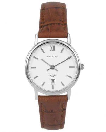 Prisma-P2117-dames-horloge-edelstaal-bruin-l