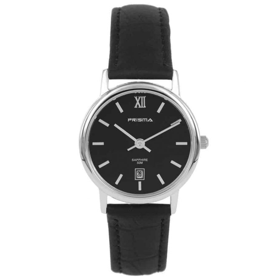Prisma-P2118-dames-horloge-edelstaal-zwart-l