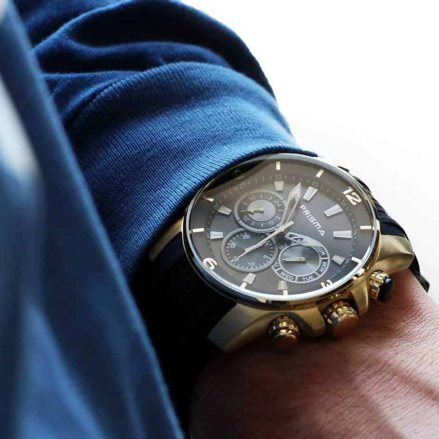 Prisma Traveller gold sportief horloge sportive watch