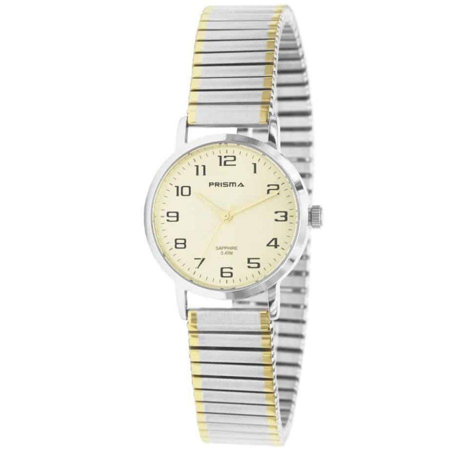 Prisma-P1757-horloges-dames-rekband-bicolor-saffier-l