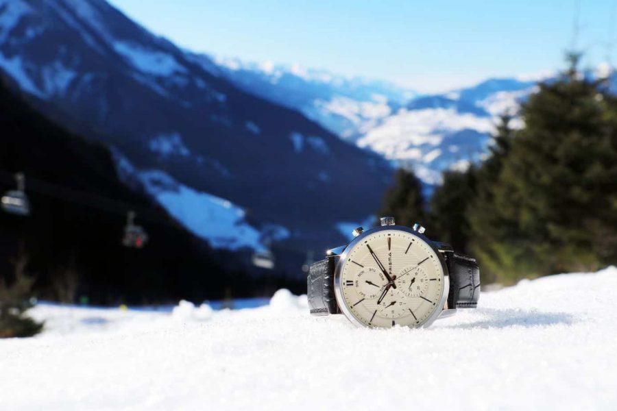 Prisma refined horloges herenhorloge traveller beige sneeuw