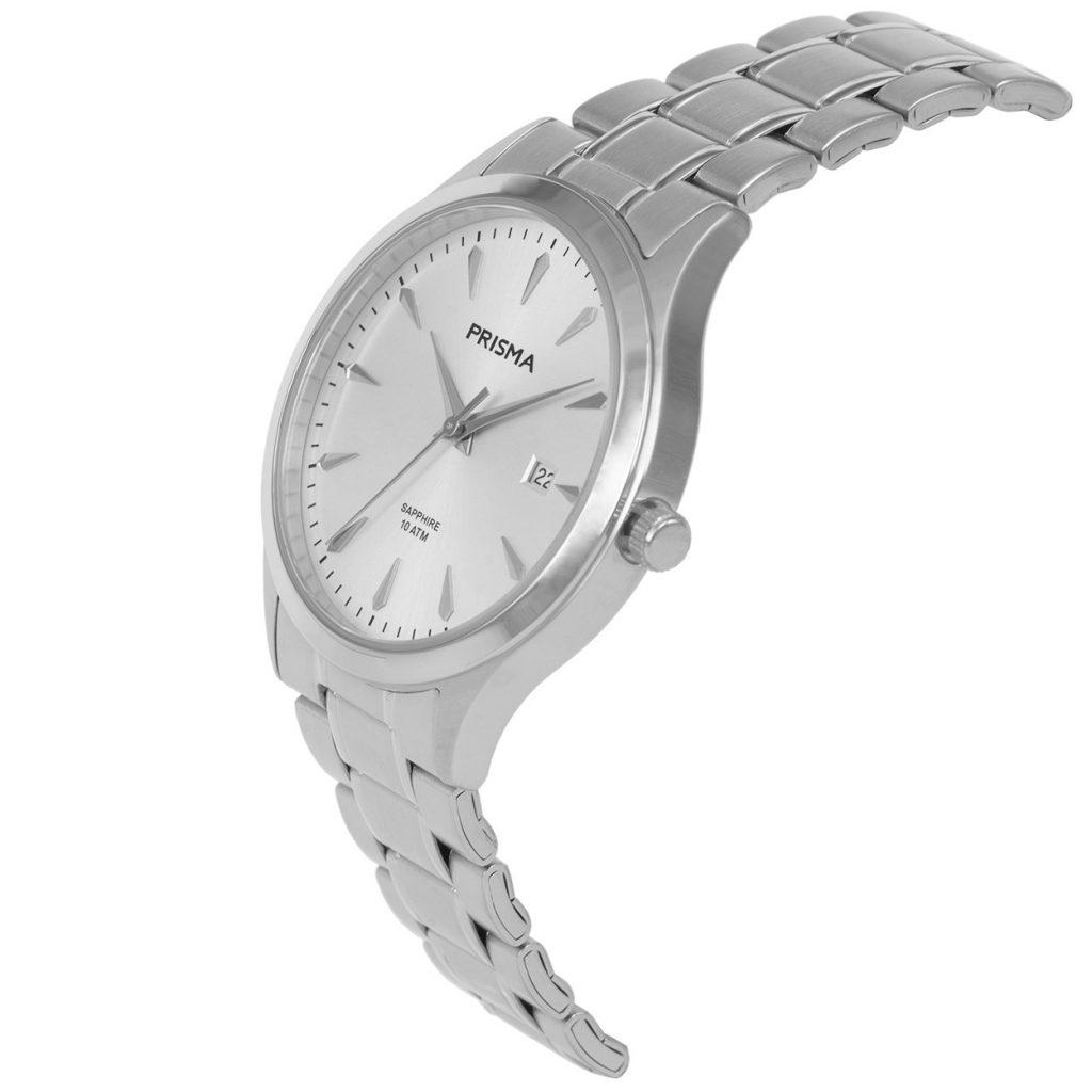 Prisma-P1650-heren-horloge-edelstaal-schuin