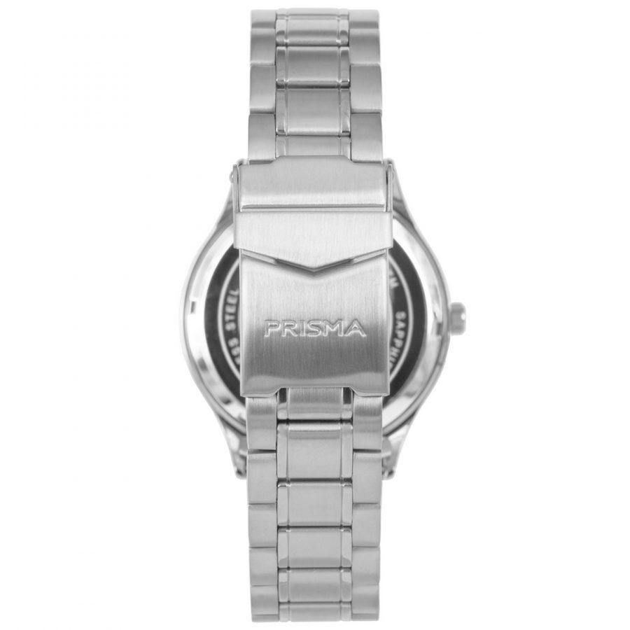Prisma-P1651-heren-horloge-edelstaal-achterkant