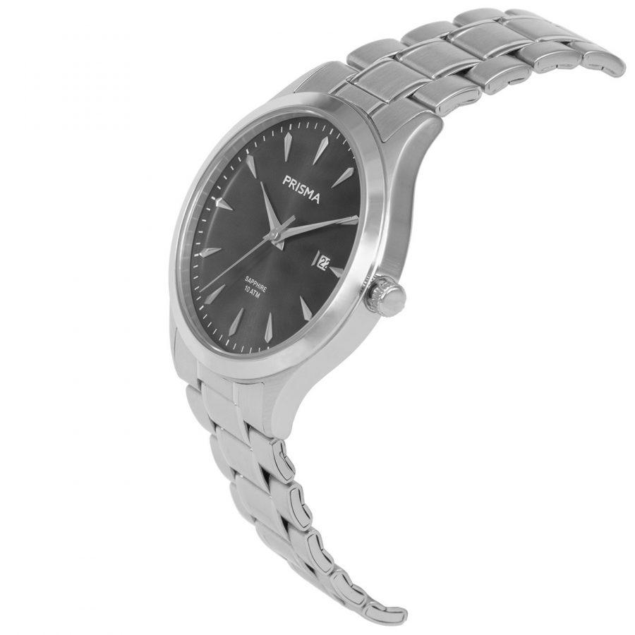 Prisma-P1651-heren-horloge-edelstaal-schuin