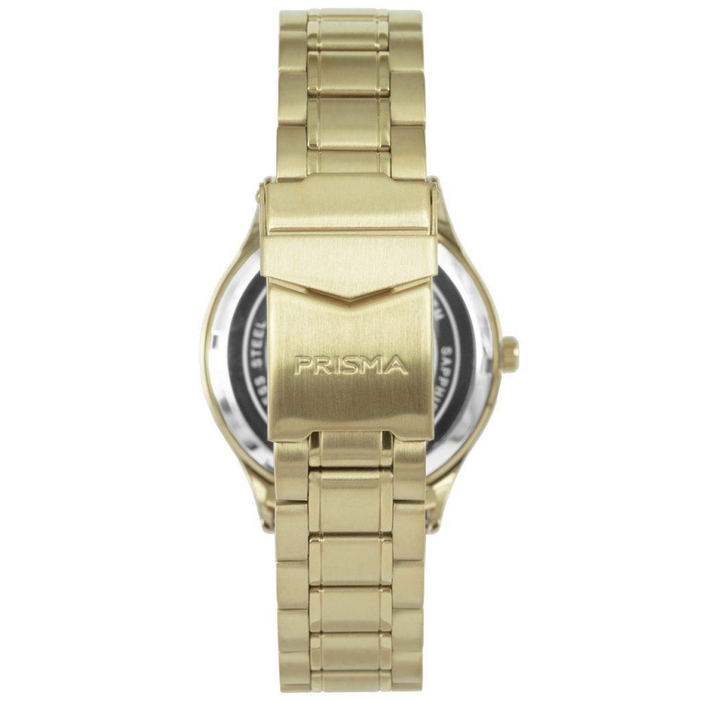 Prisma-P1652-heren-horloge-edelstaal-goud-achterkant