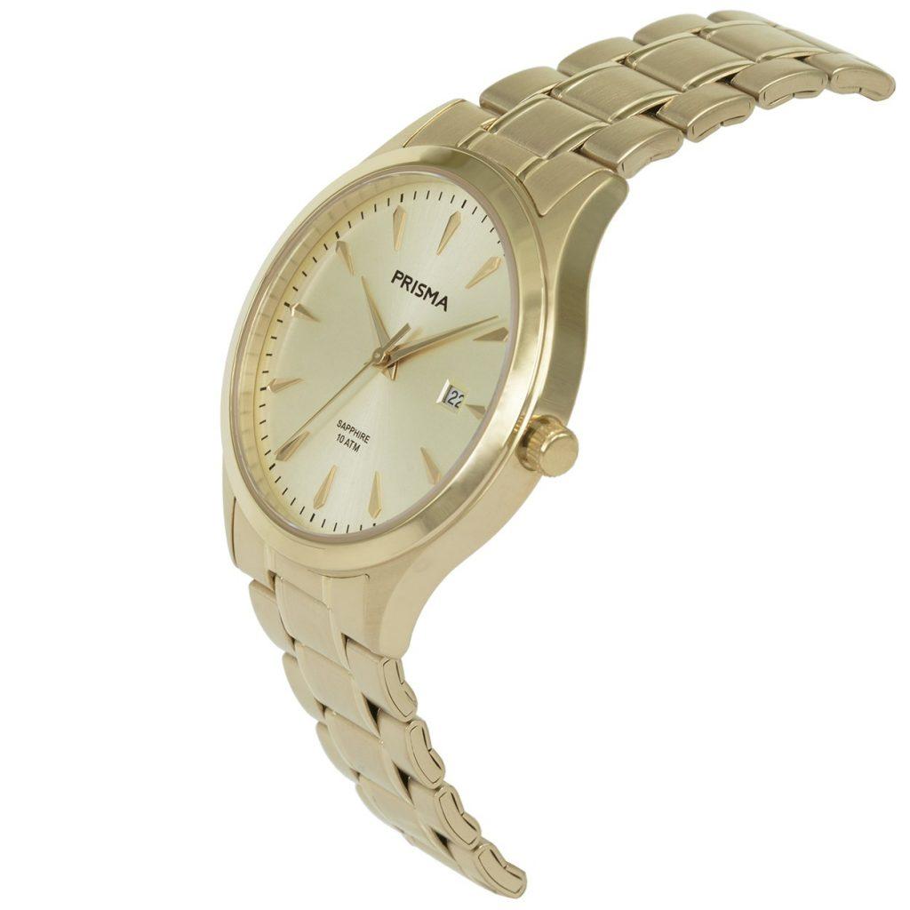 Prisma-P1652-heren-horloge-edelstaal-goud-schuin