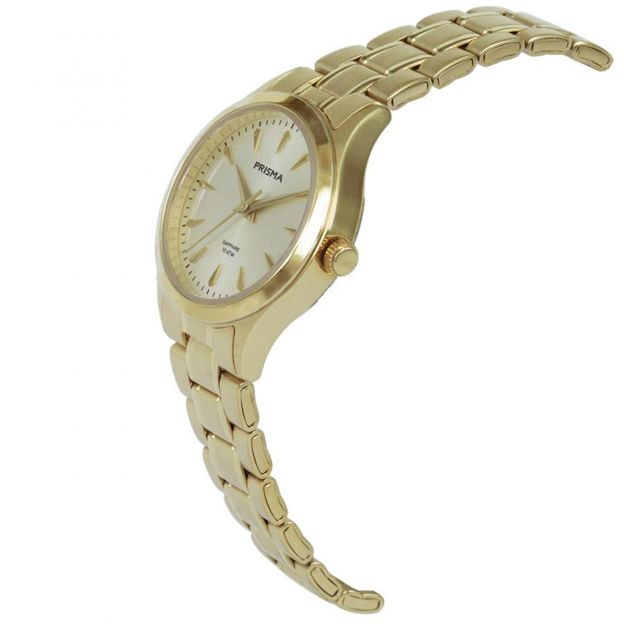 Prisma-P1657-dames-horloge-edelstaal-goud-schuin