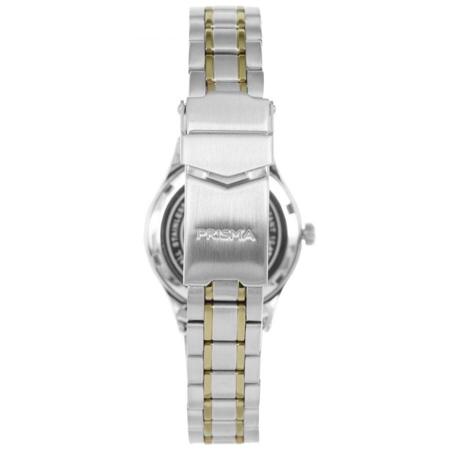 Prisma-P1658-dames-horloges-edelstaal-bicolor-achterkant