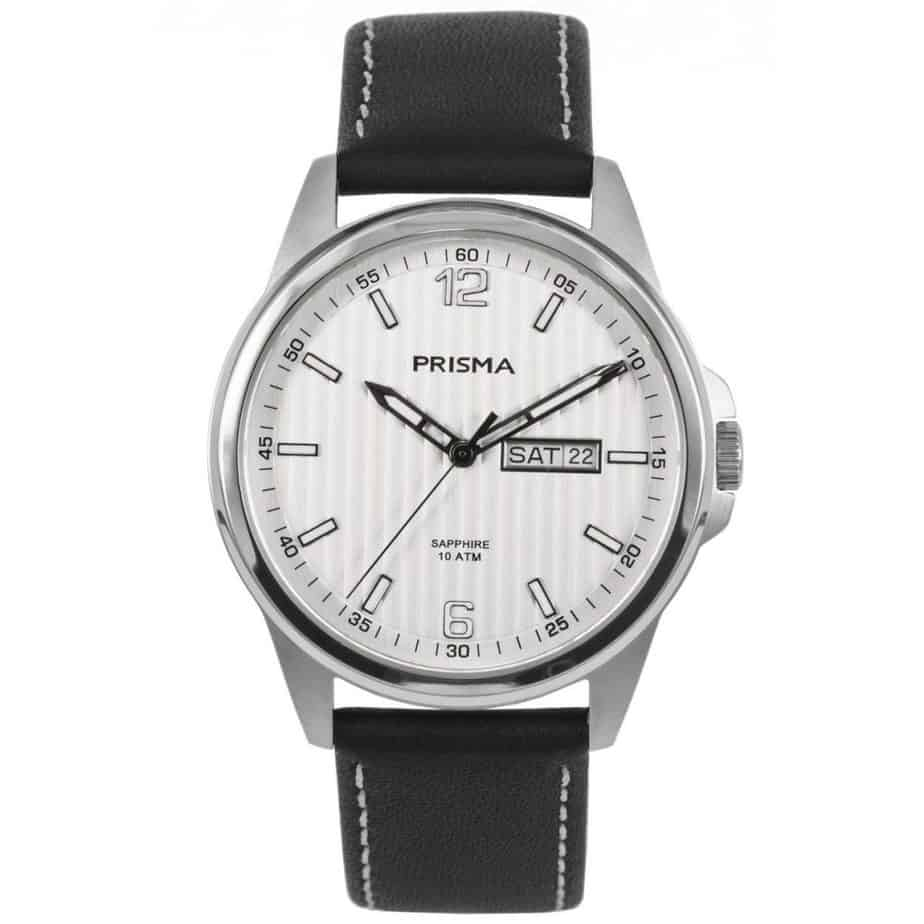 Prisma-watch-horloge-men-pattern-P1660-heren-horloge-edelstaal-leer-l