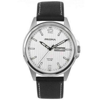 Prisma-watch-horloge-men-pattern-P1660-heren-horloge-edelstaal-leer-l