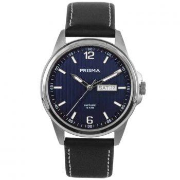 Prisma-watch-horloge-men-P1661-pattern-heren-horloge-edelstaal-leer-l