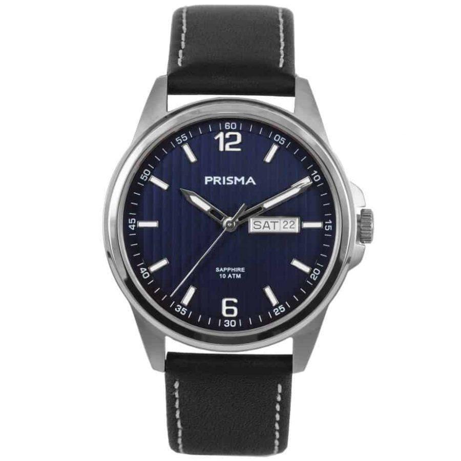 Prisma-P1661-heren-horloge-edelstaal-leer-l