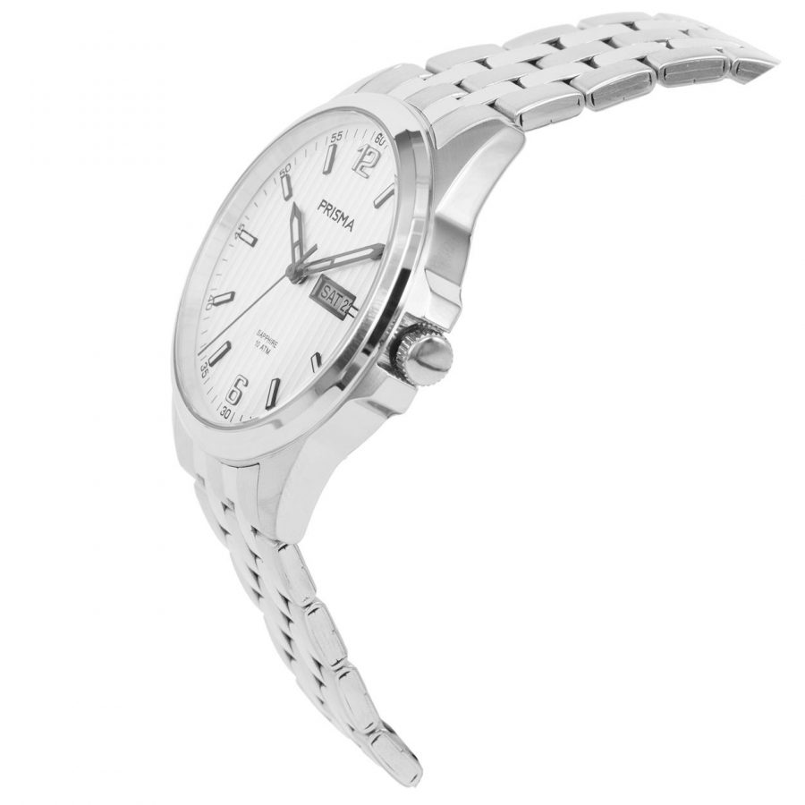Prisma-P1663-heren-horloge-edelstaal-saffier-schuin