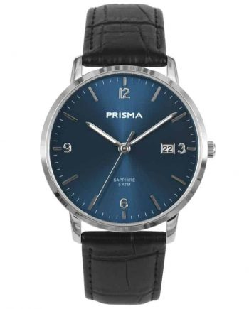 PRISMA-P1645-HEREN-HORLOGE-EDELSTAAL-BLAUW-MEN-WATCH