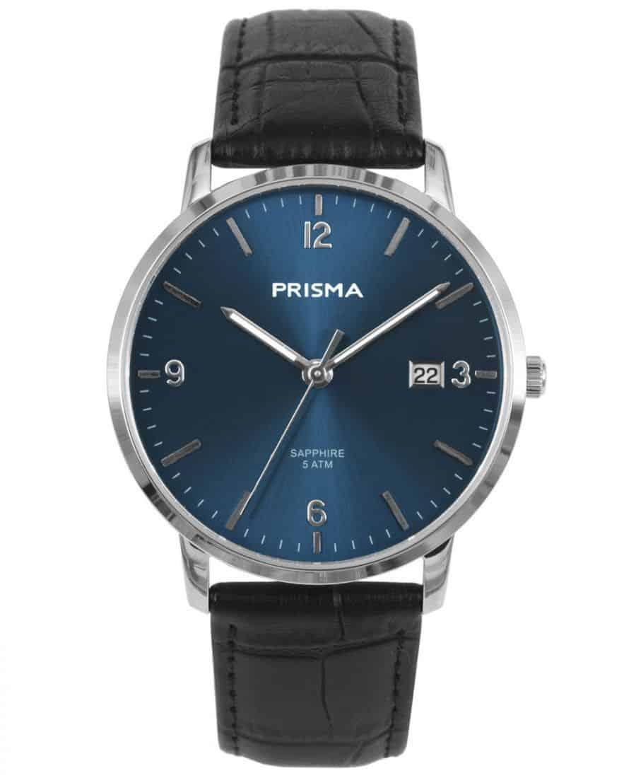 PRISMA-P1645-HEREN-HORLOGE-EDELSTAAL-BLAUW-MEN-WATCH