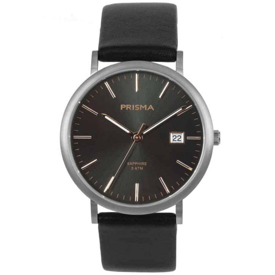 PRISMA-P1668-HEREN-HORLOGE-TITANIUM-ROSEGOUD-L