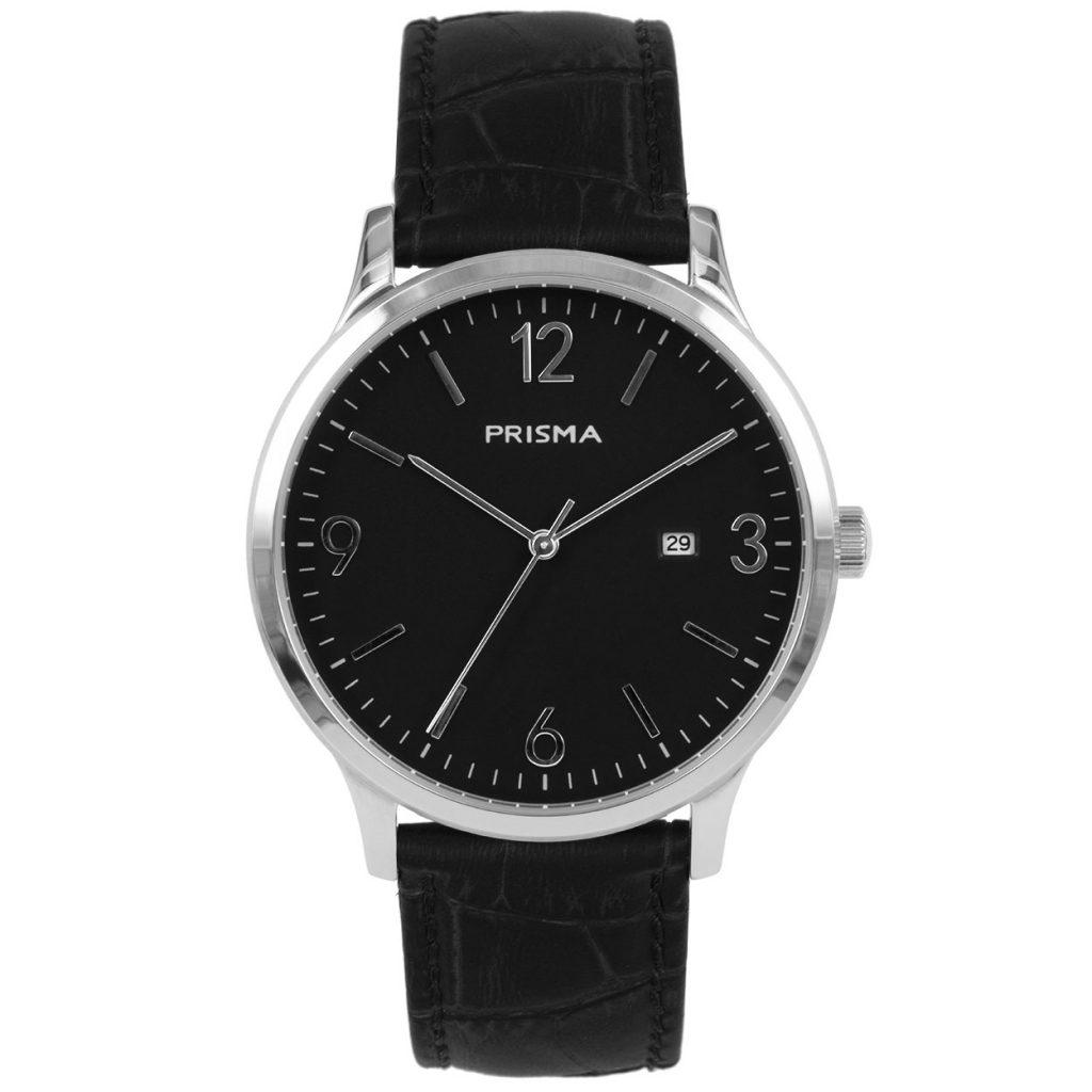 Prisma P1630 heren horloge zwart edelstaal carbon