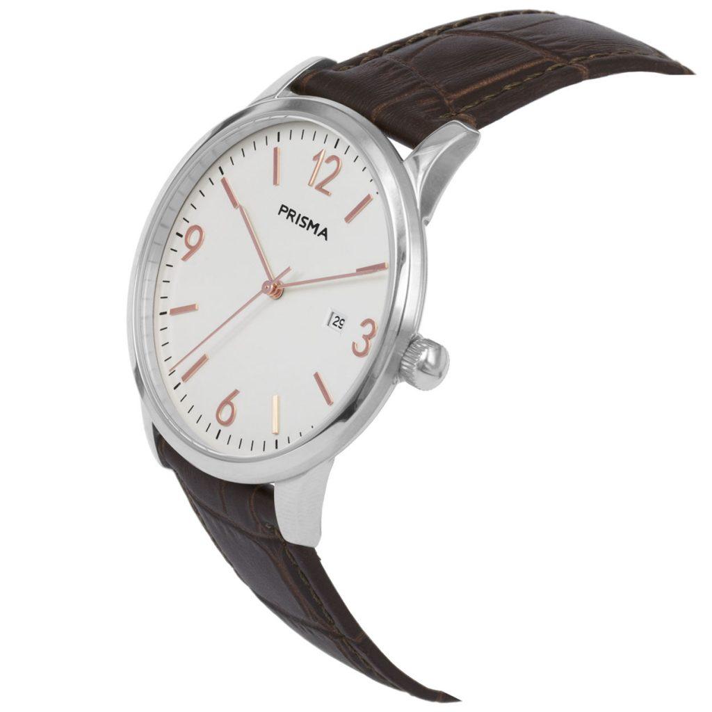 Prisma P1632 heren horloge rosegoud edelstaal carbon