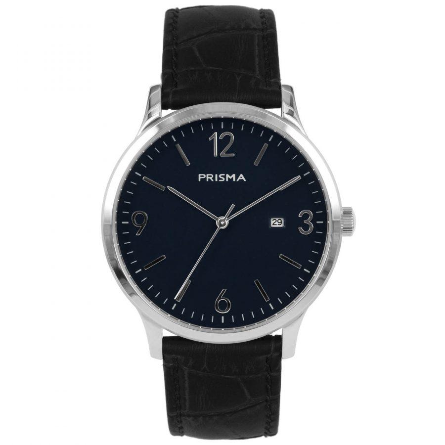 Prisma P1634 heren horloge blauw edelstaal carbon