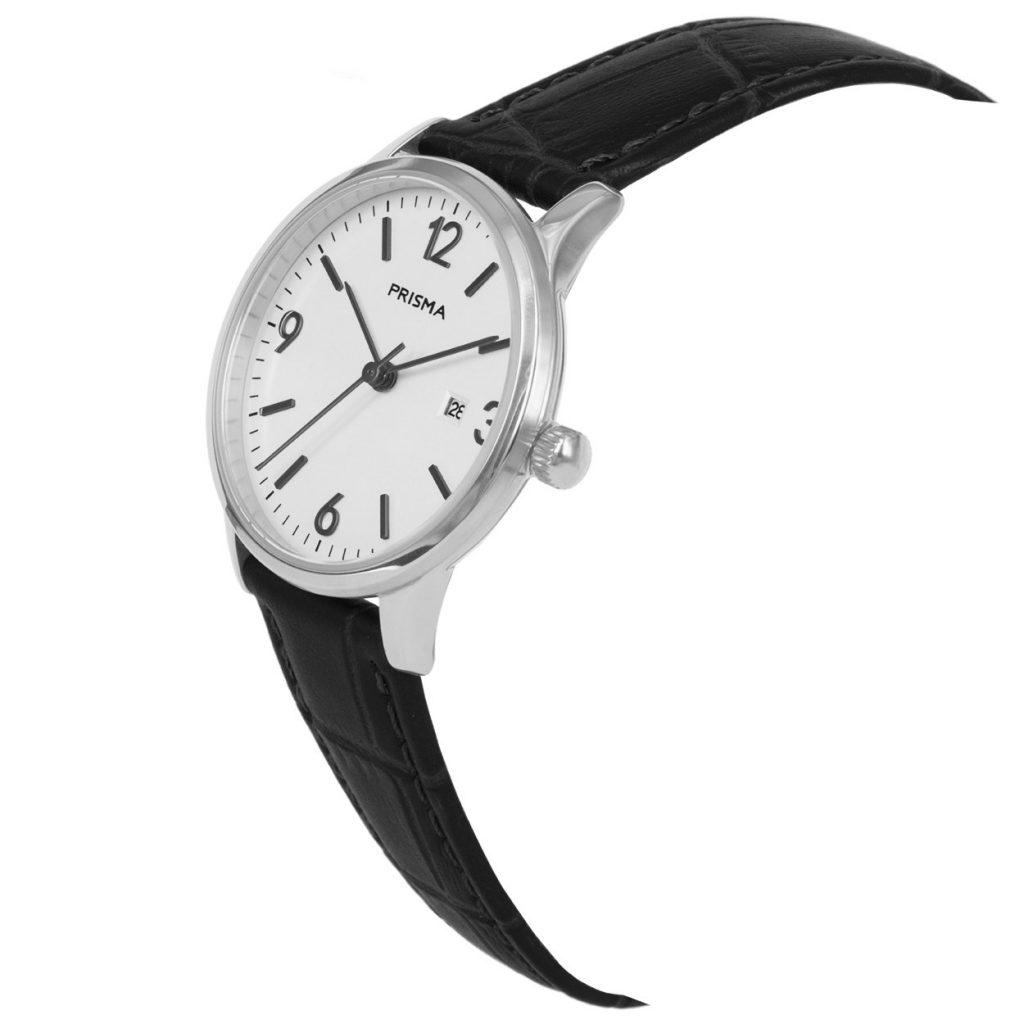 Prisma P1636 dames horloge edelstaal zilver