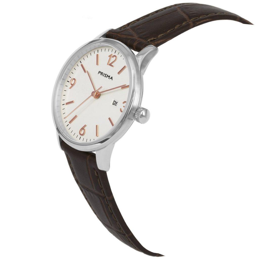 Prisma P1637 dames horloge edelstaal rosegoud