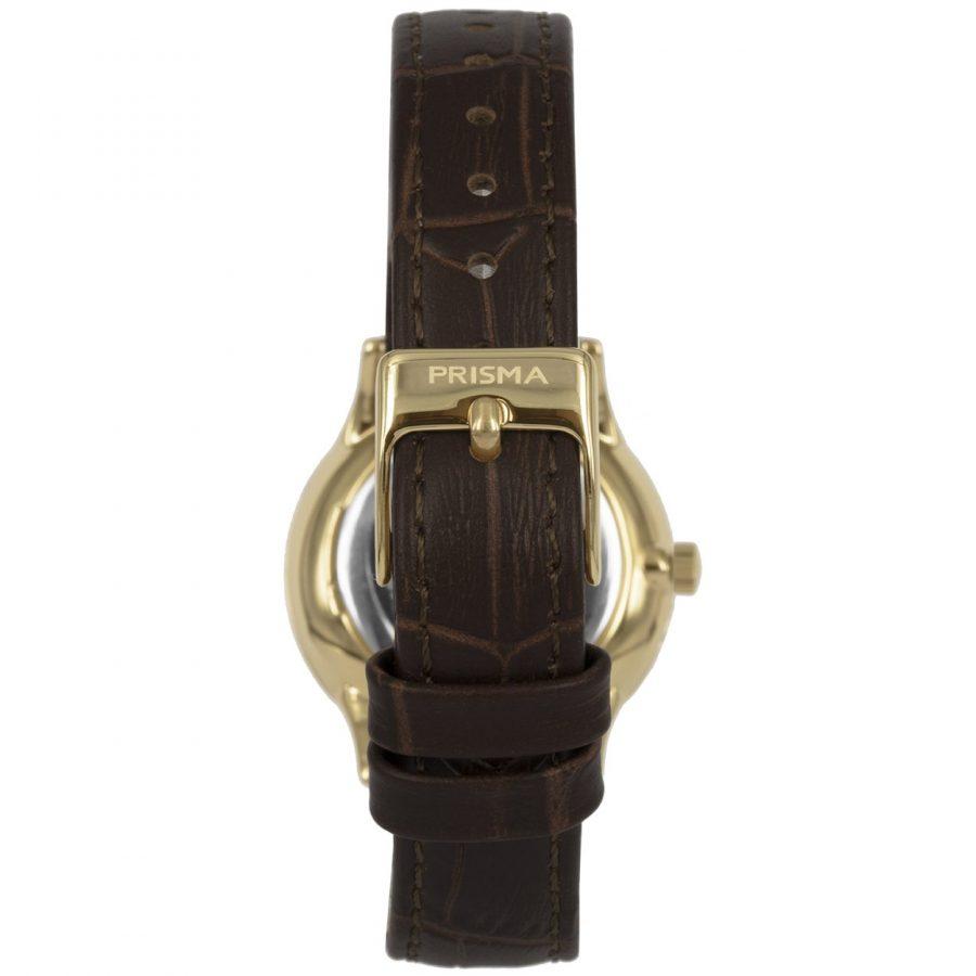 Prisma P1638 dames horloge edelstaal goud