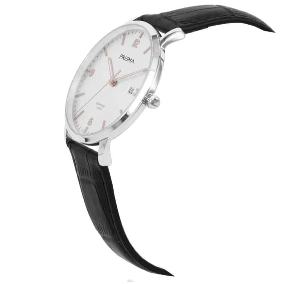Prisma-P1647-heren-horloge-edelstaal-rosegoud-schuin