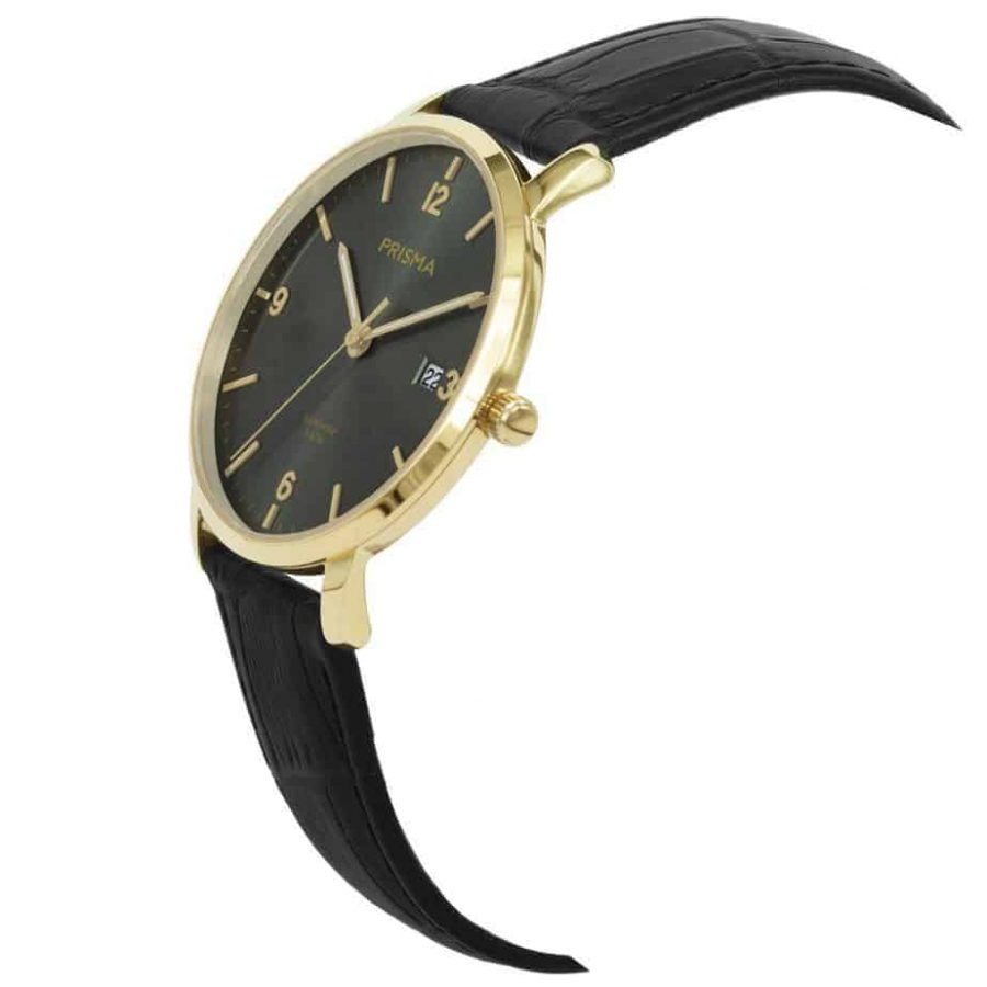 Prisma-P1648-heren-horloge-edelstaal-goud-schuin