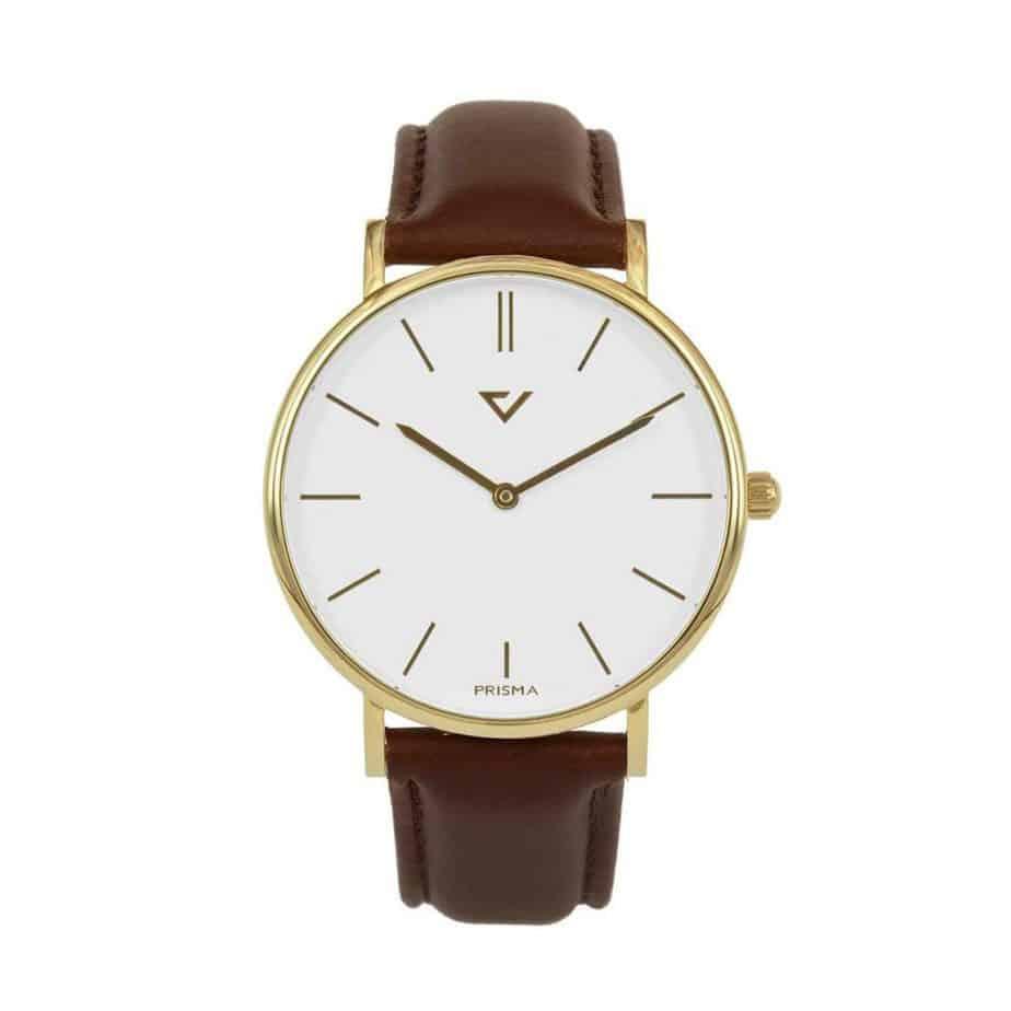 prisma Radio 100% NL horloge bruin prisma 100%NL horloge special edition P1628-418G Prisma 100NL bruin horloge online kopen voorkant