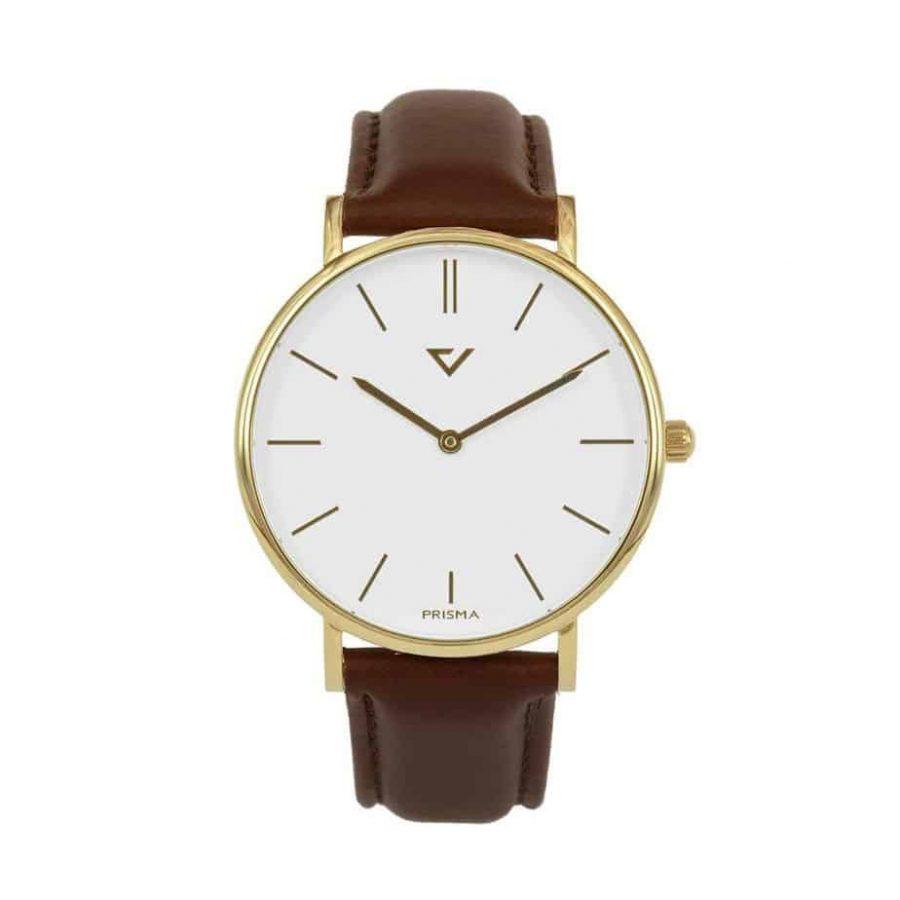 prisma Radio 100%NL horloge bruin prisma horloges special edition P1628-418G Prisma 100NL bruin horloge online kopen voorkant