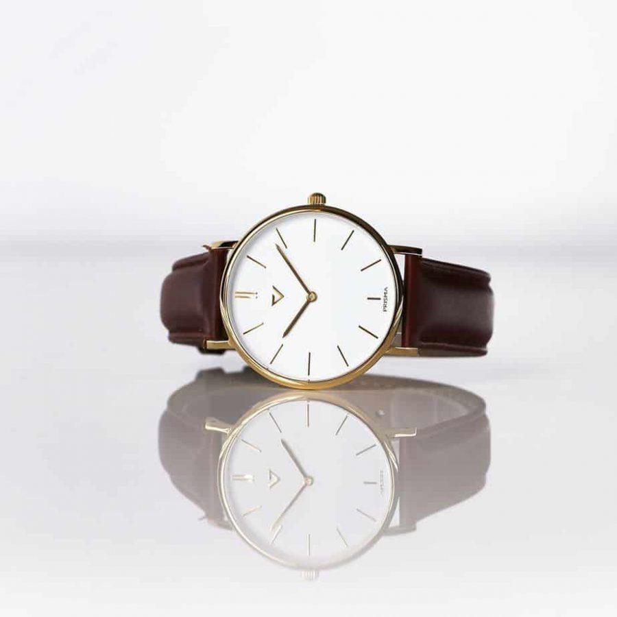 prisma Radio 100%NL horloge bruin prisma horloges special edition P1628-418G Prisma 100NL bruin horloge online kopen sfeer